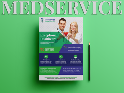 Medservice Flyer Design