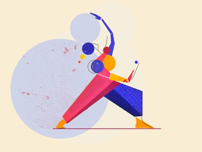 Power graphic graphicdesign art flat illustration flat design flat color power yoga man she shape texture woman design illustration vectorart vector