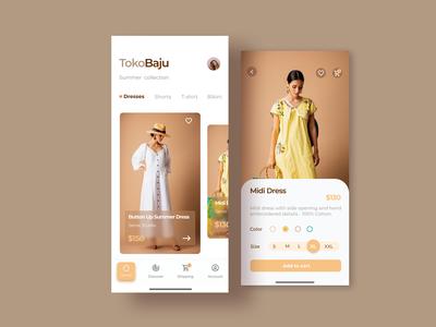Clothing UI App