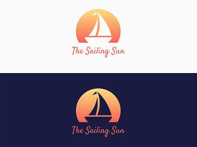 [Logo] The Sailing Sun typeface vector illustration vector art artwork design 2d illustration 2d art negative space logo negative space negative logo design logotype logo