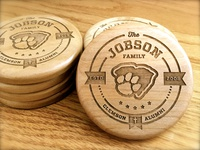 Personal Wooden Coasters