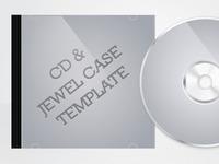 vector cd & jewel case template