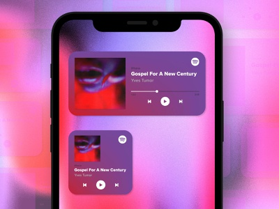 iOS14 Widget Concept: Spotify spotify song music logo iphone ios app design ios14 icon design app