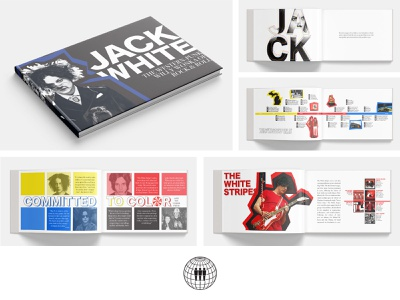 Jack White - Artist Book print indesign design color band layout book white stripes jack white