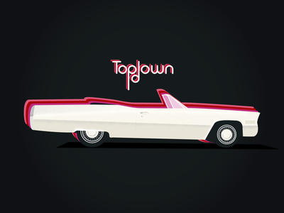 Topdown (Chevrolet Eldorado) eldorado chevrolet automobile auto vintage vector classic car channel tres topdown convertible illustration car