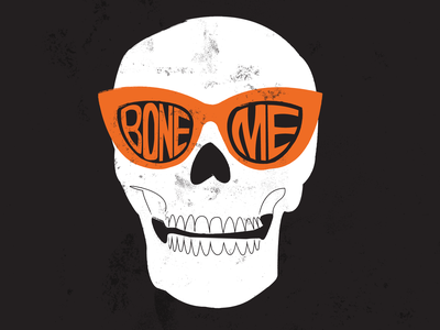 Skull art illustration skull sunglasses skeleton spooky scary