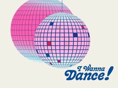 Disco illustrator photoshop illustration dance disco disco ball