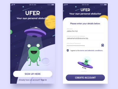 #1 Daily UI // Sign Up App Screen