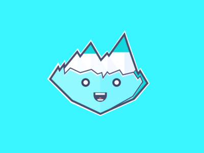 Iceberg ice iceberg illustration design flatdesign