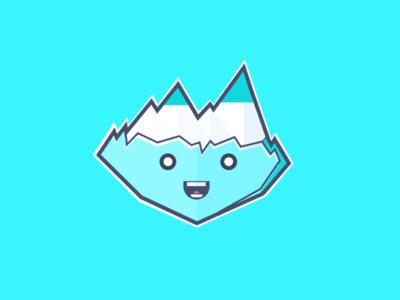 Iceberg ice iceberg illustration design flatdesign