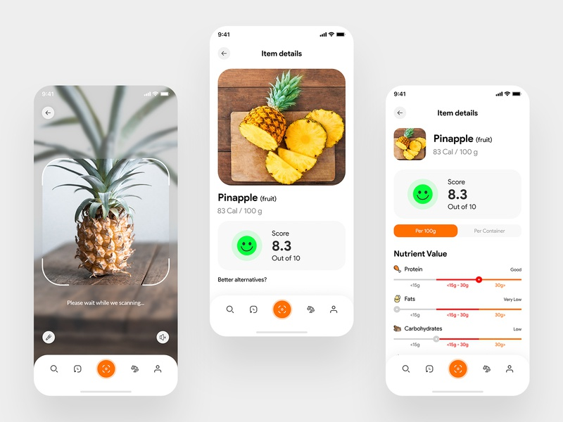 Food Adversary App | Healthy Food advising food adversary food app food app ui app design uidesign