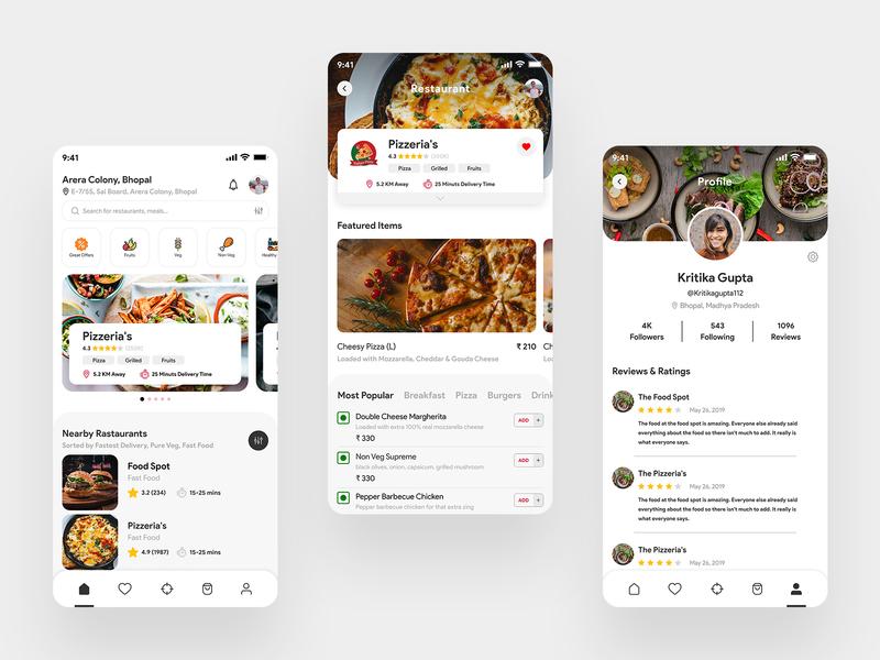 Dineline Food Delivery App ui app uidesign delivery app food app food