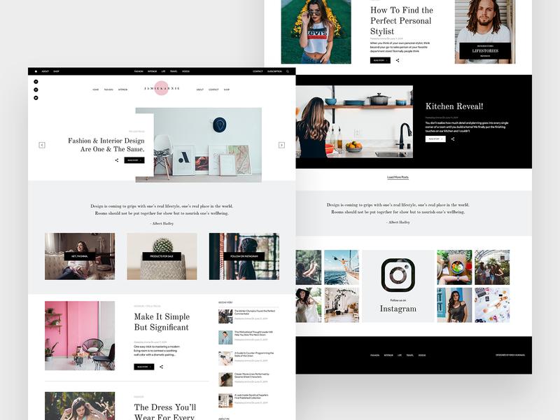 James & Annie | Fashion Blog Site uidesign blog fashion design fashion