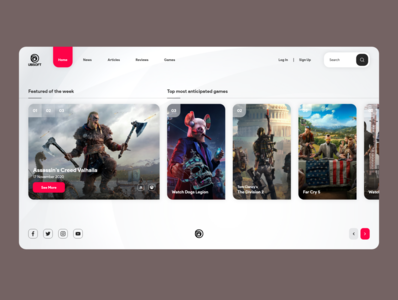 Ubisoft Games Platform Concept games ubisoft uxdesign ux uiux uidesign ui