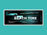 Beach time graphic