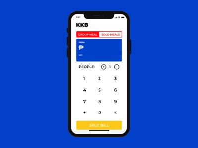 KKB: Split bill calculator concept