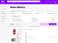 Jet - Order History Page
