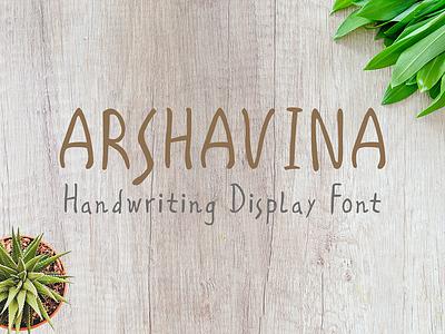 Arshavina Font logo handwritten font design font design handlettering unique graphicdesign display branding font