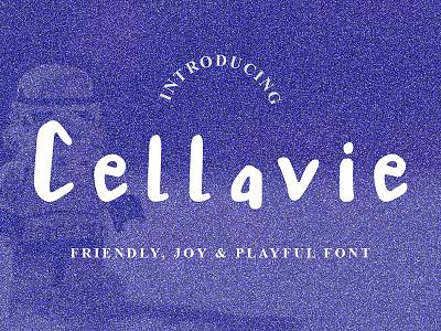 Cellavie Font typography vector logo illustration handlettering font design unique display branding cellavie font