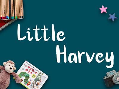 Little Harvey Font card businesscard logo design fontdesign cheerful soft handwriting joy playful simple display font