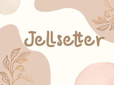 Jellsetter logo cool handwritten font font design graphicdesign unique handlettering branding display simple jellsetter font