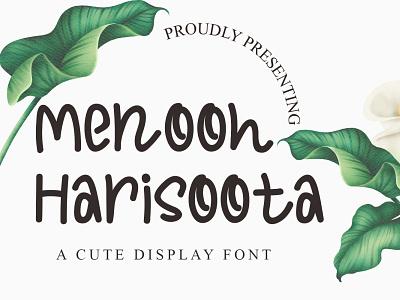 Menooh Harisoota Font vector illustration fonts handwritten font graphicdesign unique handlettering branding display font