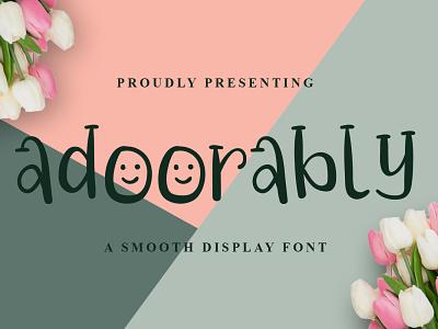 Adoorably Font font design logo handwritten font graphicdesign unique handlettering branding display font