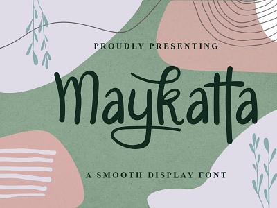 Maykatta Font cool logo font design handwritten font graphicdesign unique handlettering branding display font