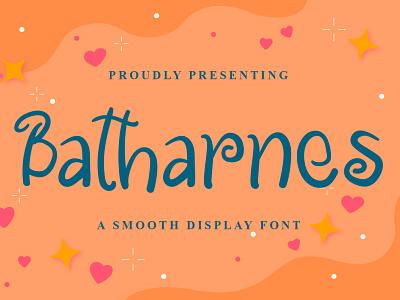 Batharnes Font design logo font design handwritten font graphicdesign unique handlettering branding display font