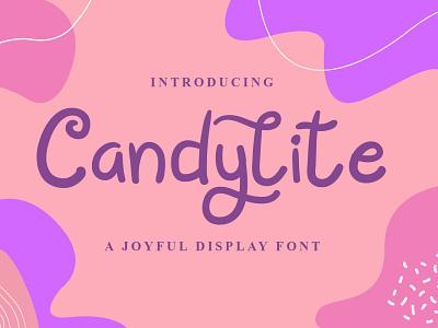 Candylite Font cool logo font design handwritten font graphicdesign unique handlettering branding display font