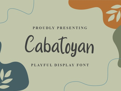 Cabatoyan Font logo font design handwritten font graphicdesign unique handlettering branding display font