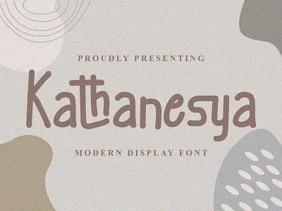 Kathanesya Font cool logo font design handwritten font graphicdesign unique handlettering branding display font