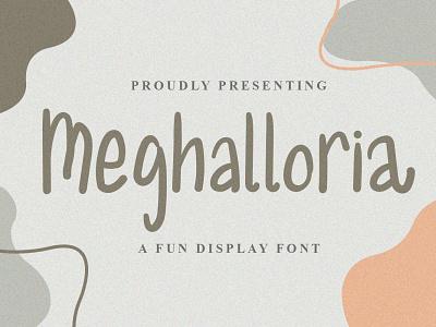 Meghalloria Font logo illustration design handwritten font graphicdesign unique handlettering branding display font
