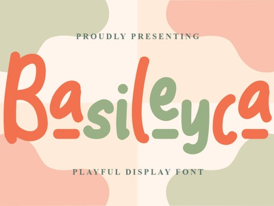 Basileyca Font logo illustration design handwritten font graphicdesign unique handlettering branding display font