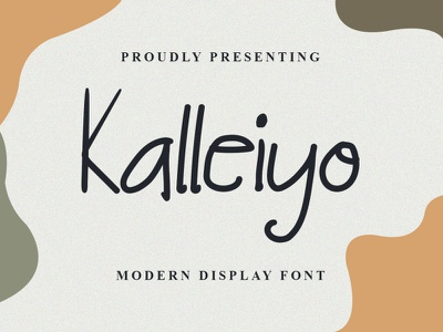 Kalleiyo Font logo illustration design handwritten font graphicdesign unique handlettering branding display font
