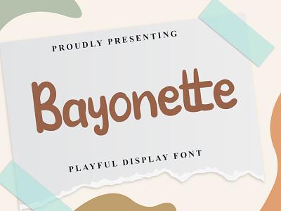 Bayonette Font logo illustration design handwritten font graphicdesign unique handlettering branding display font
