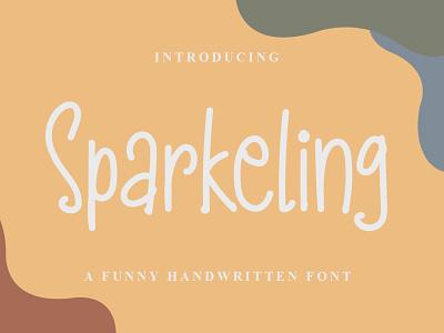 Sparkeling Font logo illustration design handwritten font graphicdesign unique handlettering branding display font