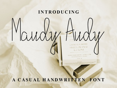 Maudy Audy Font