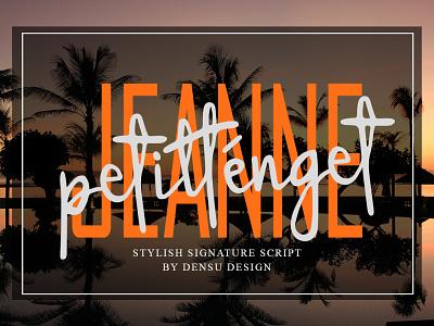 Jeanne Petitténget Font unique handwritten font handlettering graphicdesign font design display cool design branding font