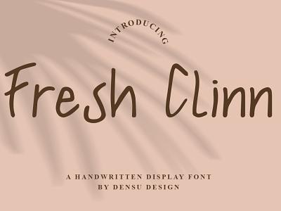 Fresh Clinn Font designs stationery minimalist cool unique logo branding design graphicdesign handlettering fonts display display font branding font