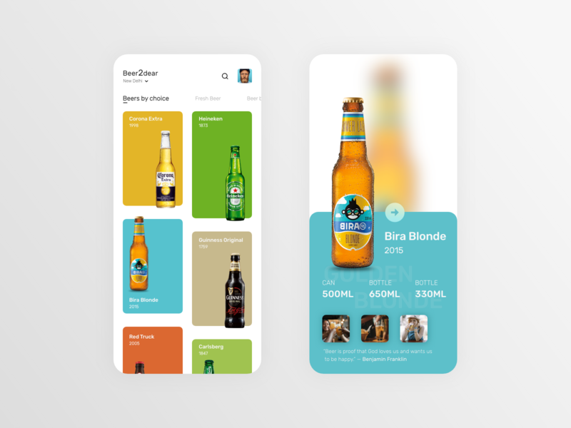 BEER APP CONCEPT uiux user experience user interface design userinterface ui  ux ux design ui trends ui design mobile app mobile ui app design ui ux