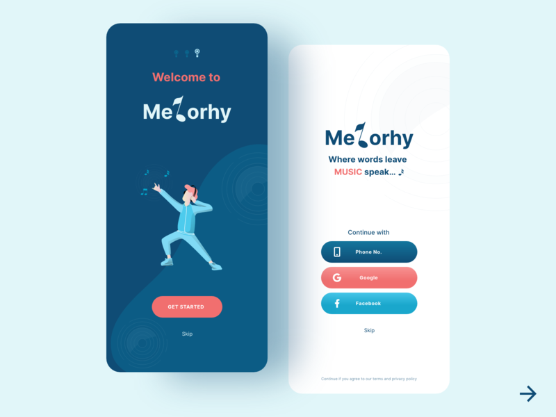 Onboarding & Signup Screen - Music App music app uxdesign uxui userexperiencedesign user interface design user experience app design songs music ux design dailyinspiration uxdesigner uitrends mobile app uiux userinterface design app ux ui