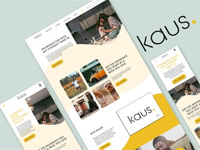 Kaus Insurance web website ui branding design ux
