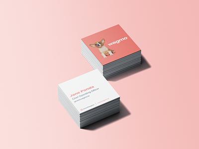 Wagmo Square Business Cards branding design brand business cards business