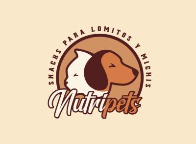 Nutripets mexico logotipo fauna animales vector design branding logo design logo