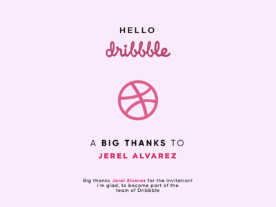 Thanks Dribbble for this awesome opportunity