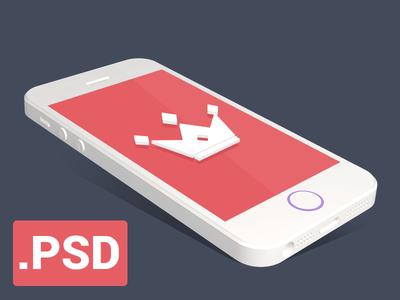 Flat iPhone 5S mockup / FREE download/