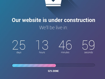 Flat iOS7 style pre-launch counter