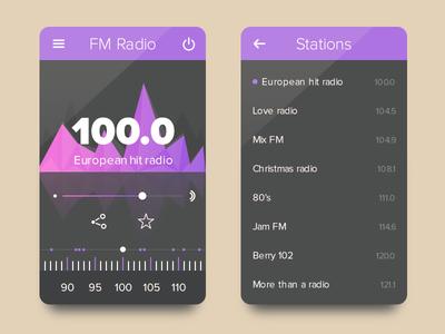 Radio UI (Freebie - .PSD)