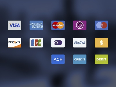 Payment options icons